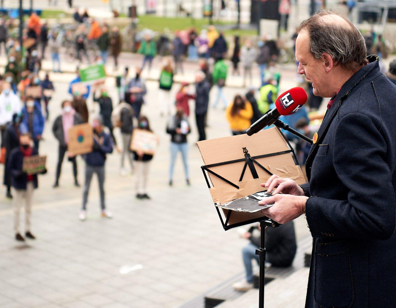 Spoken word Vincent Bijlo, Utrechts Klimaatalarm